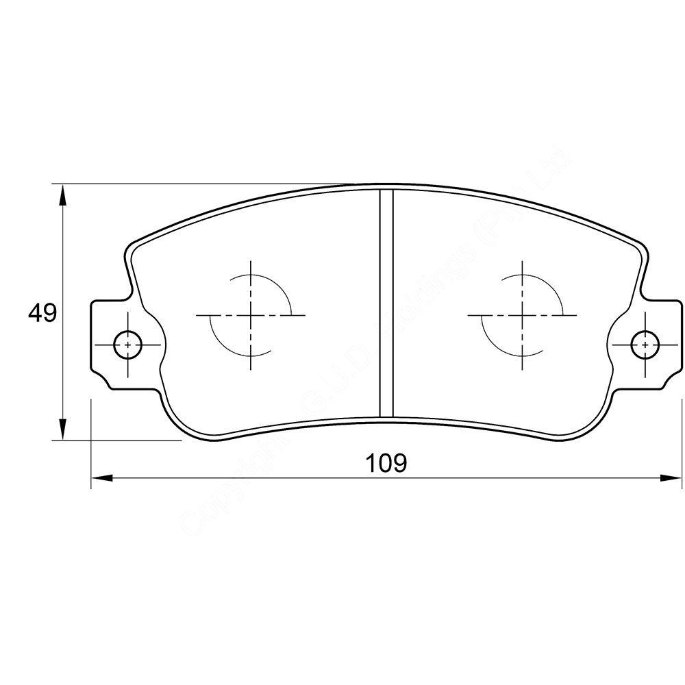 KBC Brake Pads (front) for Dacia Cristal,Renault 1