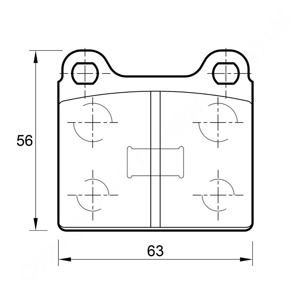 KBC Brake Pads (front) for Audi,Volkswagen Passat 1