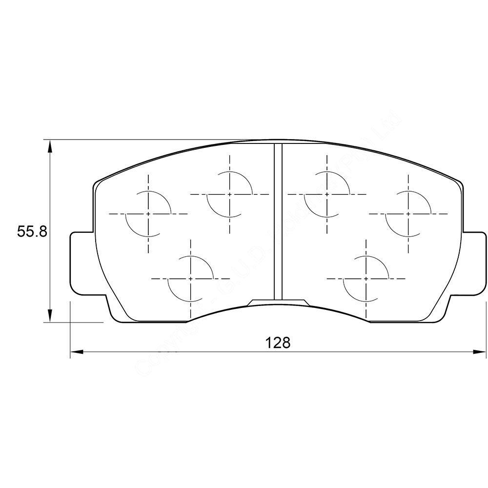 KBC Brake Pads (front) for Ford,Mitsubishi 1