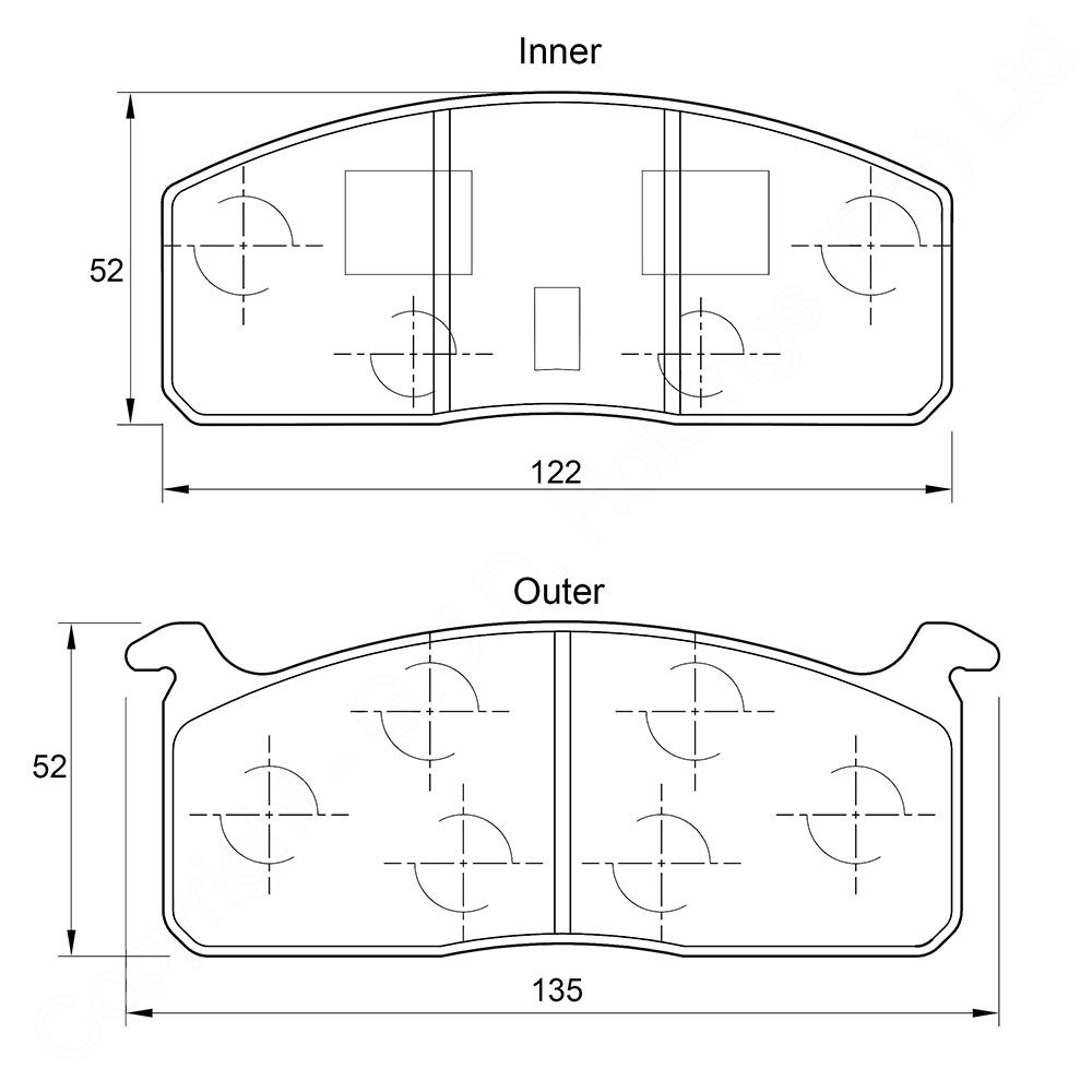 KBC Brake Pads (front) for Toyota ,Hi- Lux 1