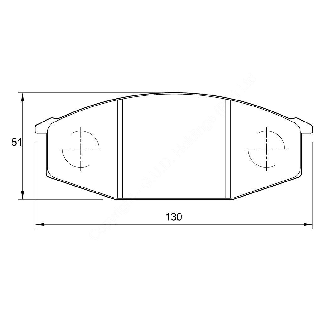 KBC Brake Pads (front) for Nissan,nissan 1