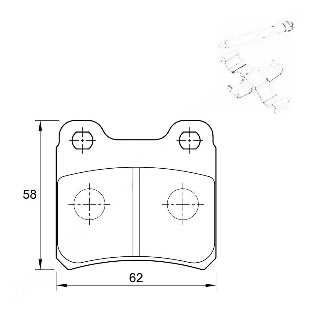 KBC Brake Pads (Rear) for Opel, Saab 1