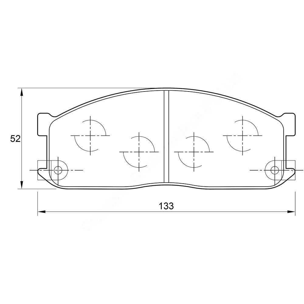KBC Brake Pads (front) for Ford , Mazda 1