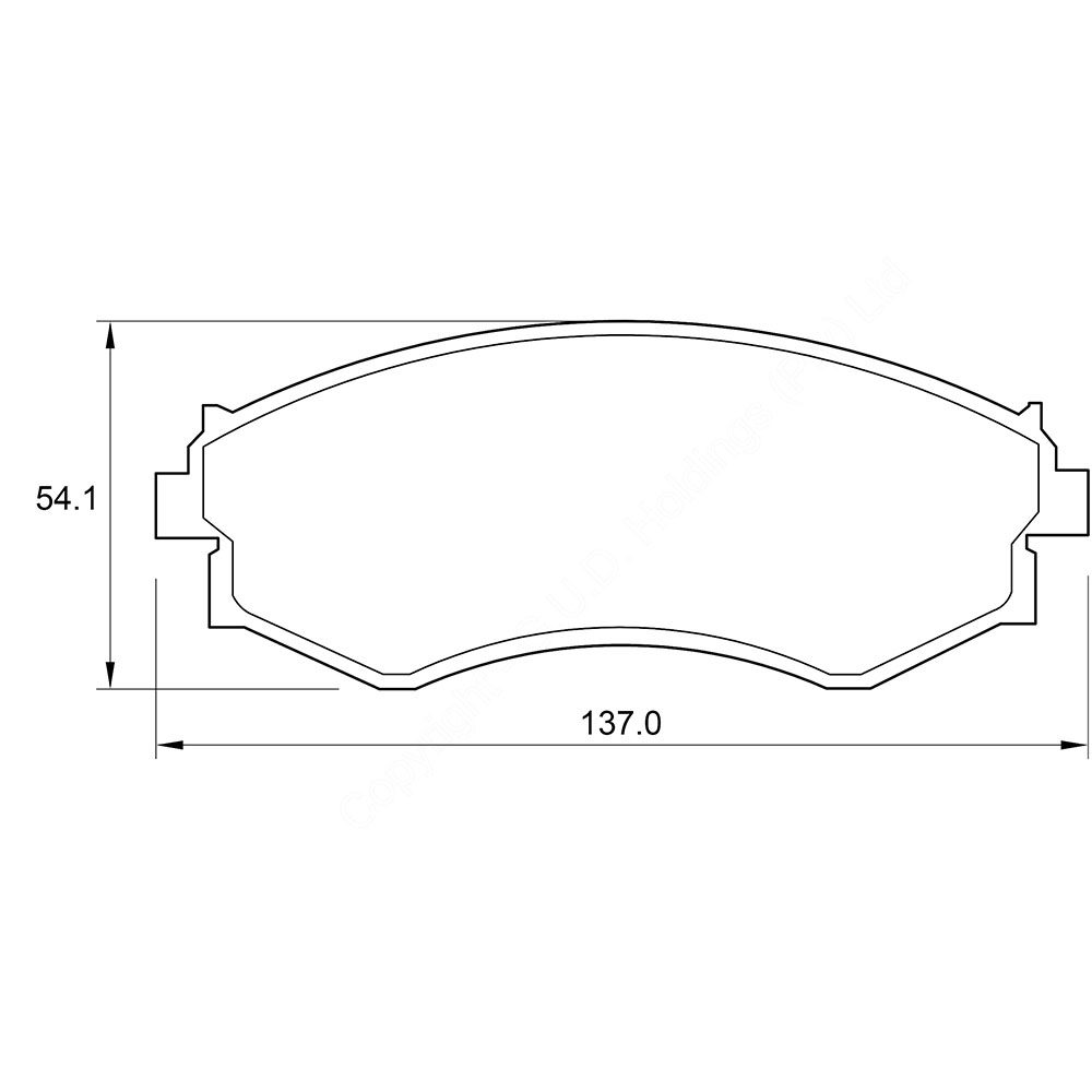 KBC Brake Pads (front) for  Nissan 1