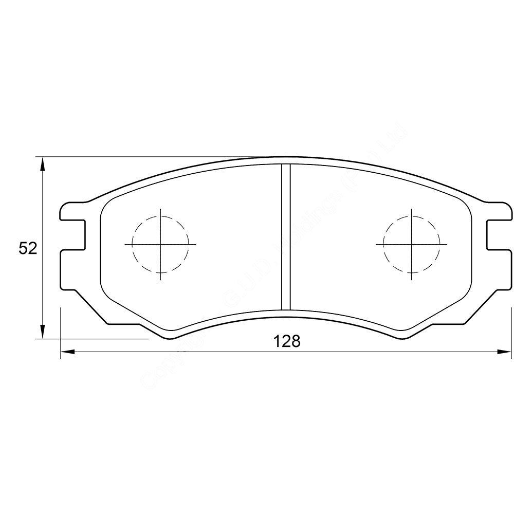 KBC Brake Pads (front) for Nissan, Sentra 1