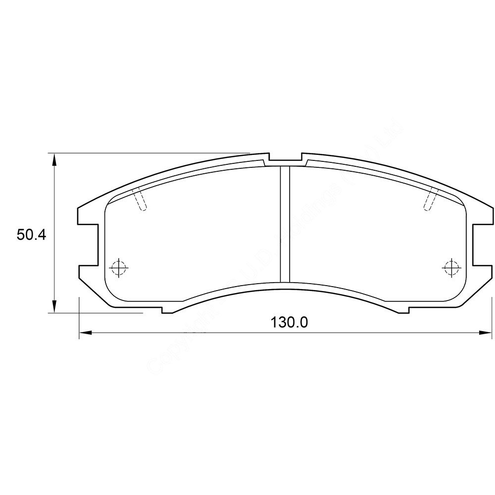 KBC Brake Pads (front) for Mazda MX6 1