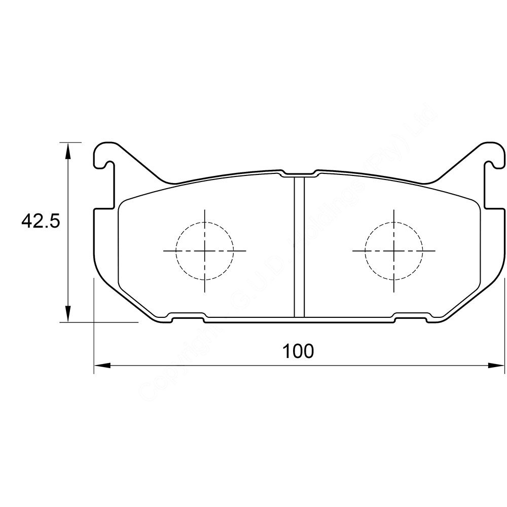 KBC Brake Pads (rear) for Ford, Mazda 1