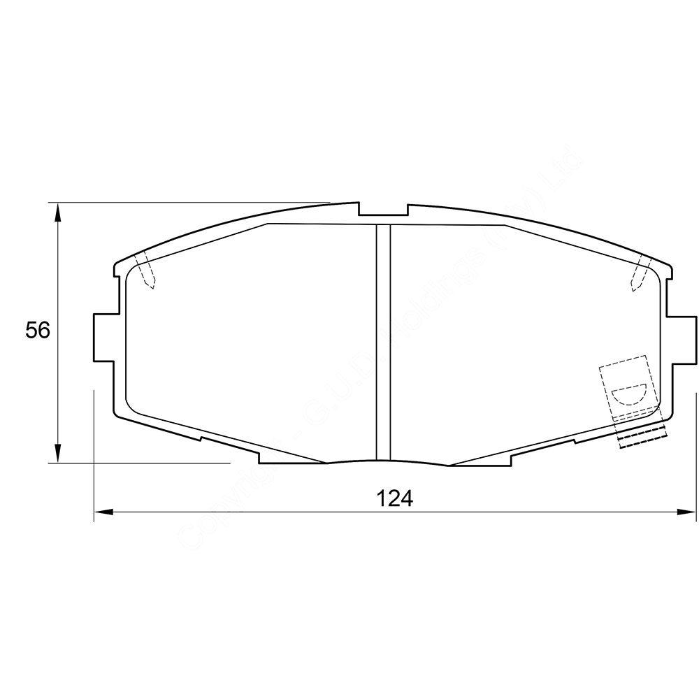 KBC Brake Pads (front) for Toyota Celica Supra 1