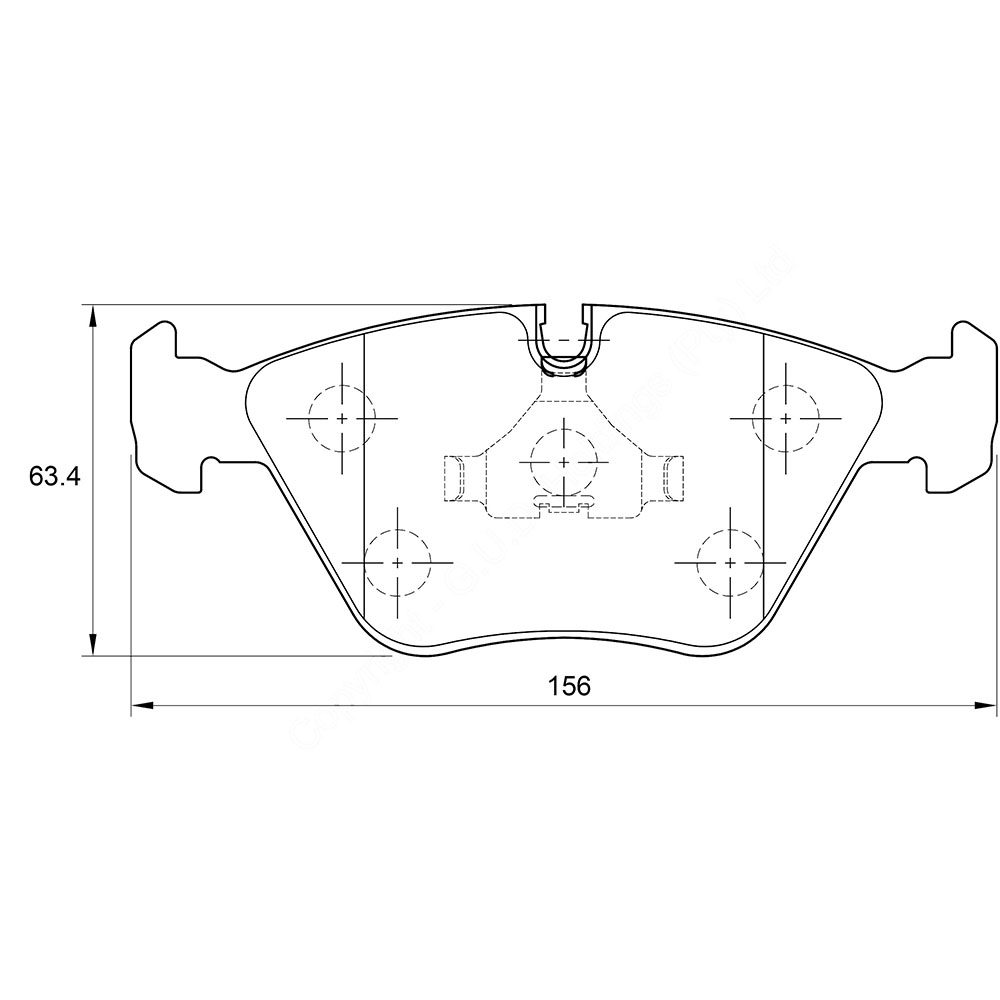 KBC Brake Pads (front) for Audi ,Jaguar 1