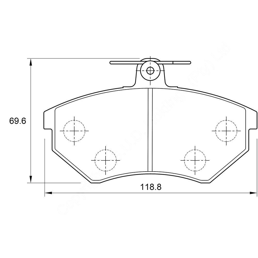 KBC Brake Pads (front) for Volkswagen 1