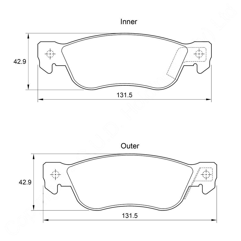 KBC Brake Pads (rear) for Isuzu Troope 1