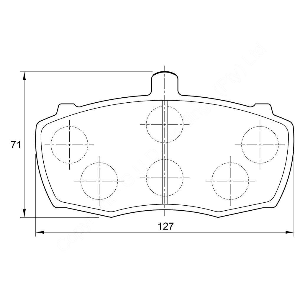 KBC Brake Pads (front) for Landrover Defender 1