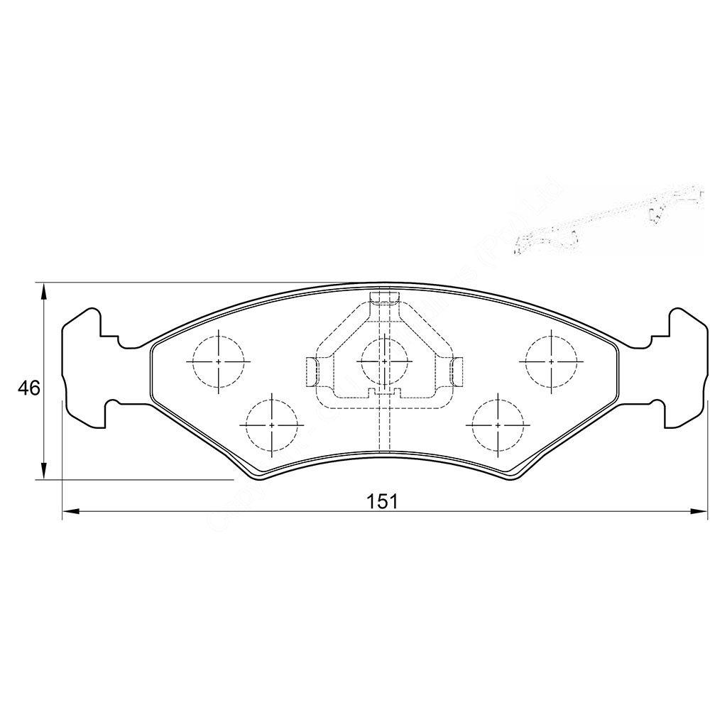 KBC Brake Pads (front) for Daewoo Lanos,Opel Astra,Opel Corsa ,Opel Corsa ,Opel Corsa ,Opel Corsa 1