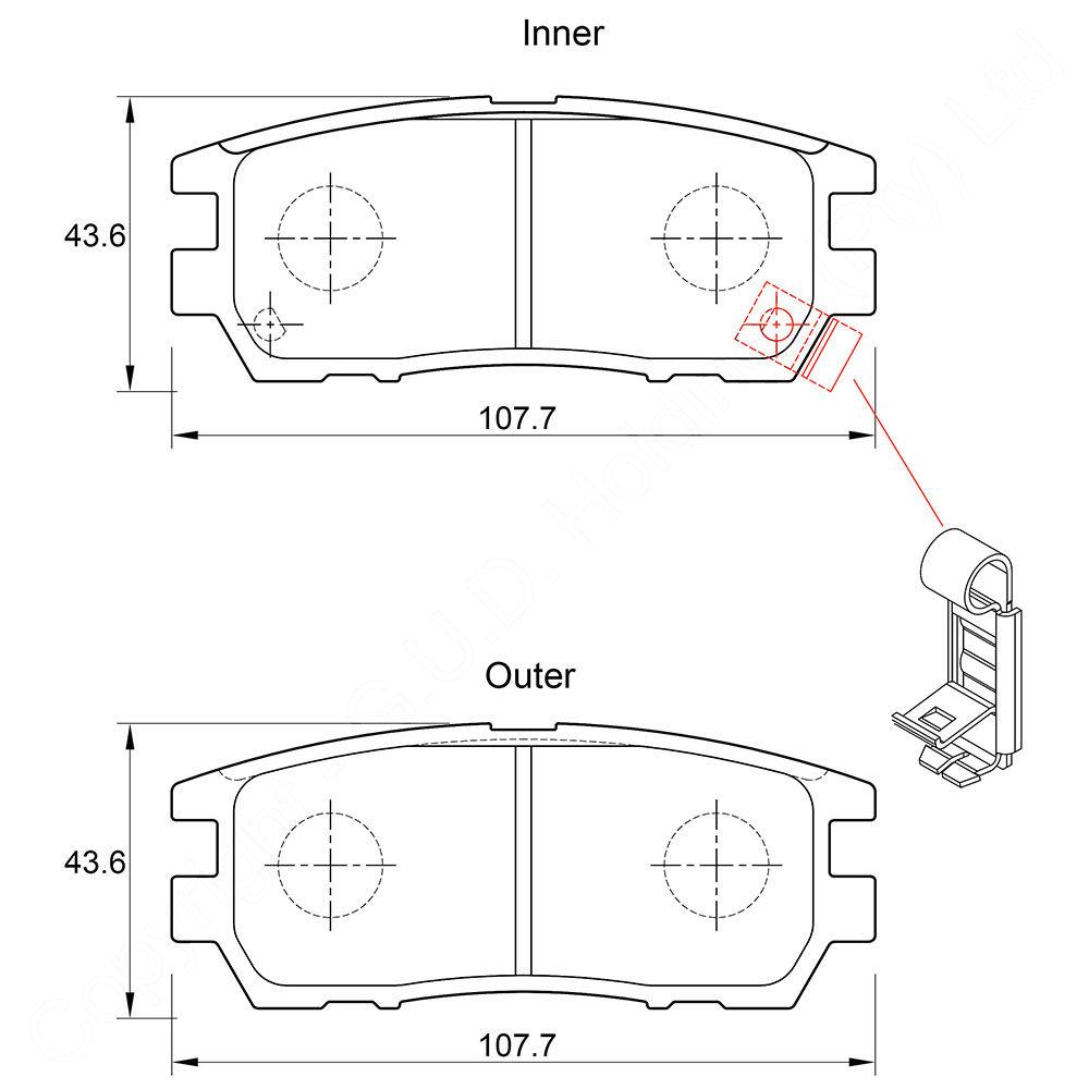 KBC Brake Pads (rear) for Mitsubishi Pajero,Mitsubishi Pajero,Mitsubishi Pajero 1