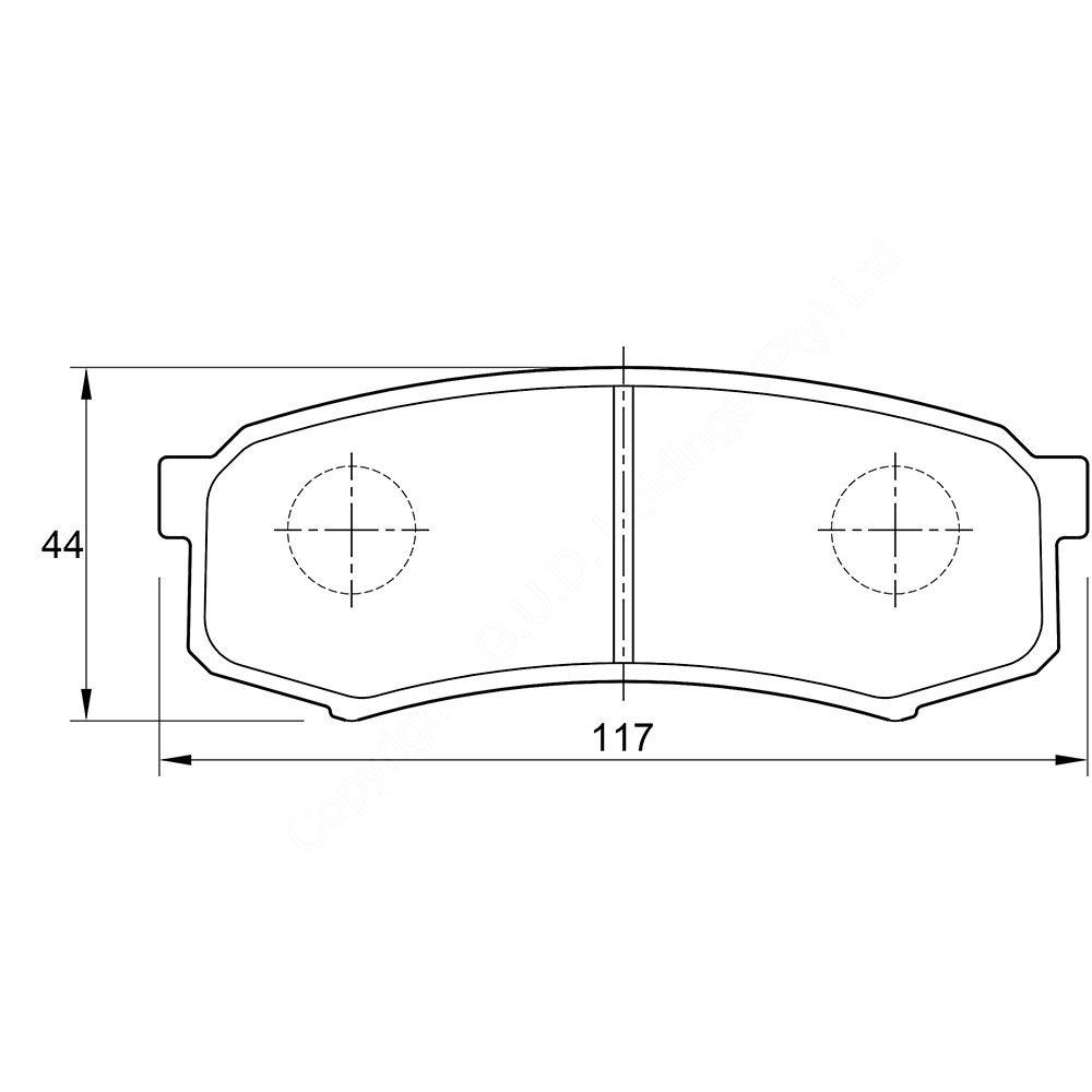 KBC Brake Pads (rear) for Toyota Landcruiser,Toyota Landcruiser,Toyota Landcruiser,Toyota Landcruiser wagon 1