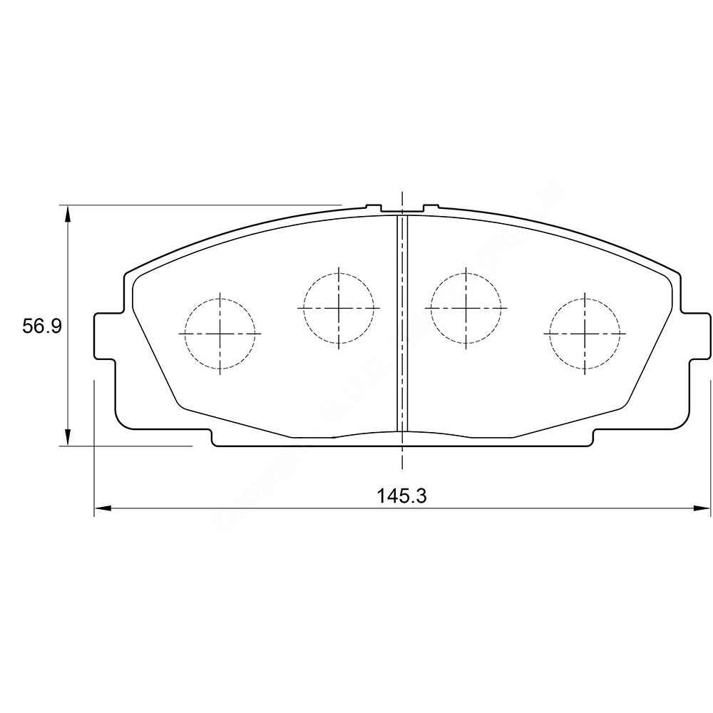 KBC Brake Pads (front) for Toyota Hi-Ace 1