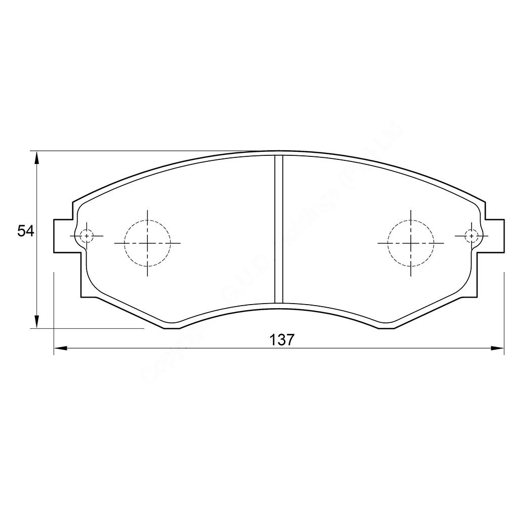 KBC Brake Pads (front) for Hyundai Sonata 1
