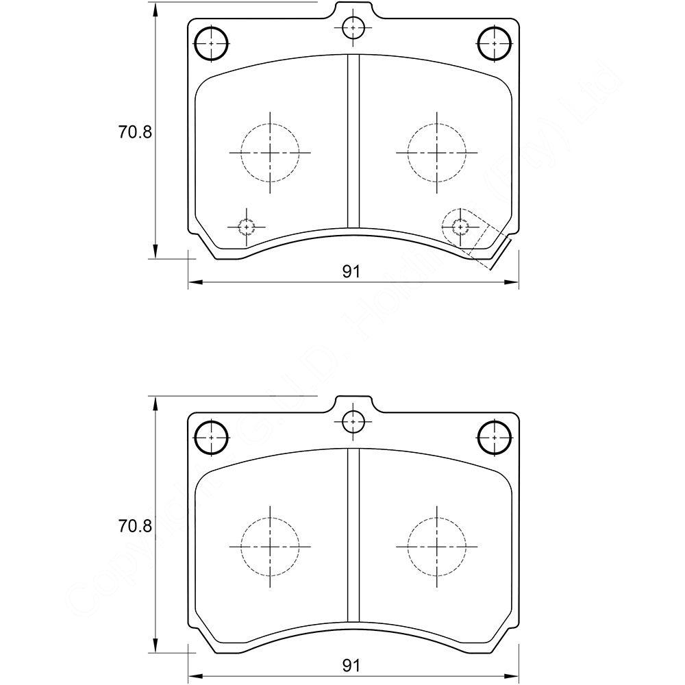 KBC Brake Pads (front) for Mazda Astina,Mazda Etude 1