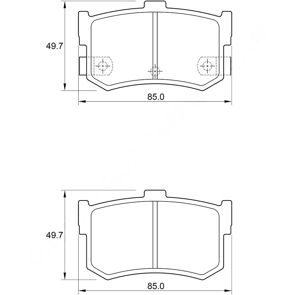 KBC Brake Pads (front) for Hyundai Sonata 1