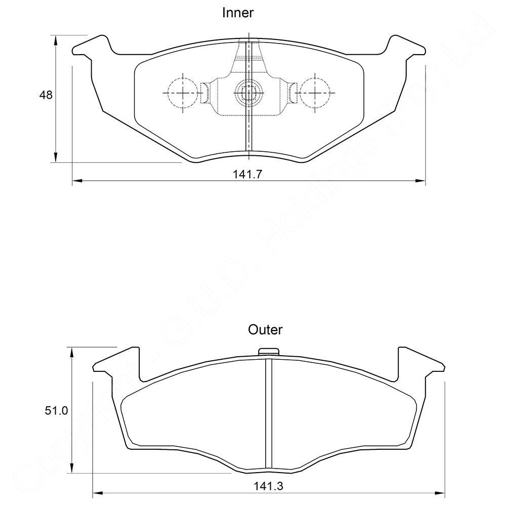 KBC Brake Pads (front) for Volkswagen 1