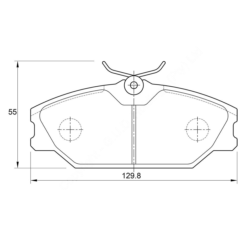 KBC Brake Pads (front) for Renault 1