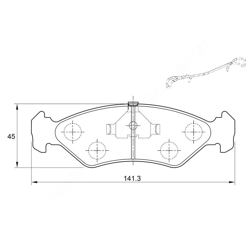 KBC Brake Pads (rear) for Ford, Mazda 1