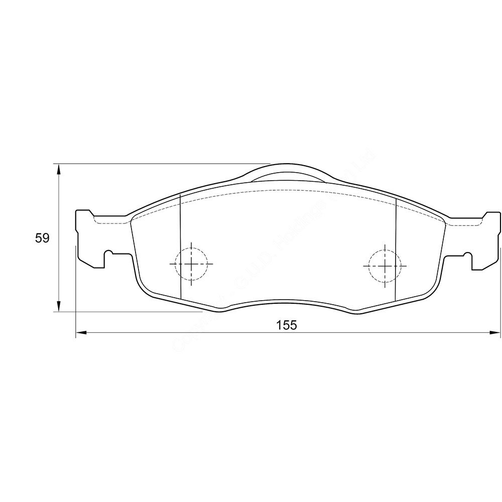 KBC Brake Pads (front) for Landrover Discovery,Ford Mondeo,Ford Mondeo 1
