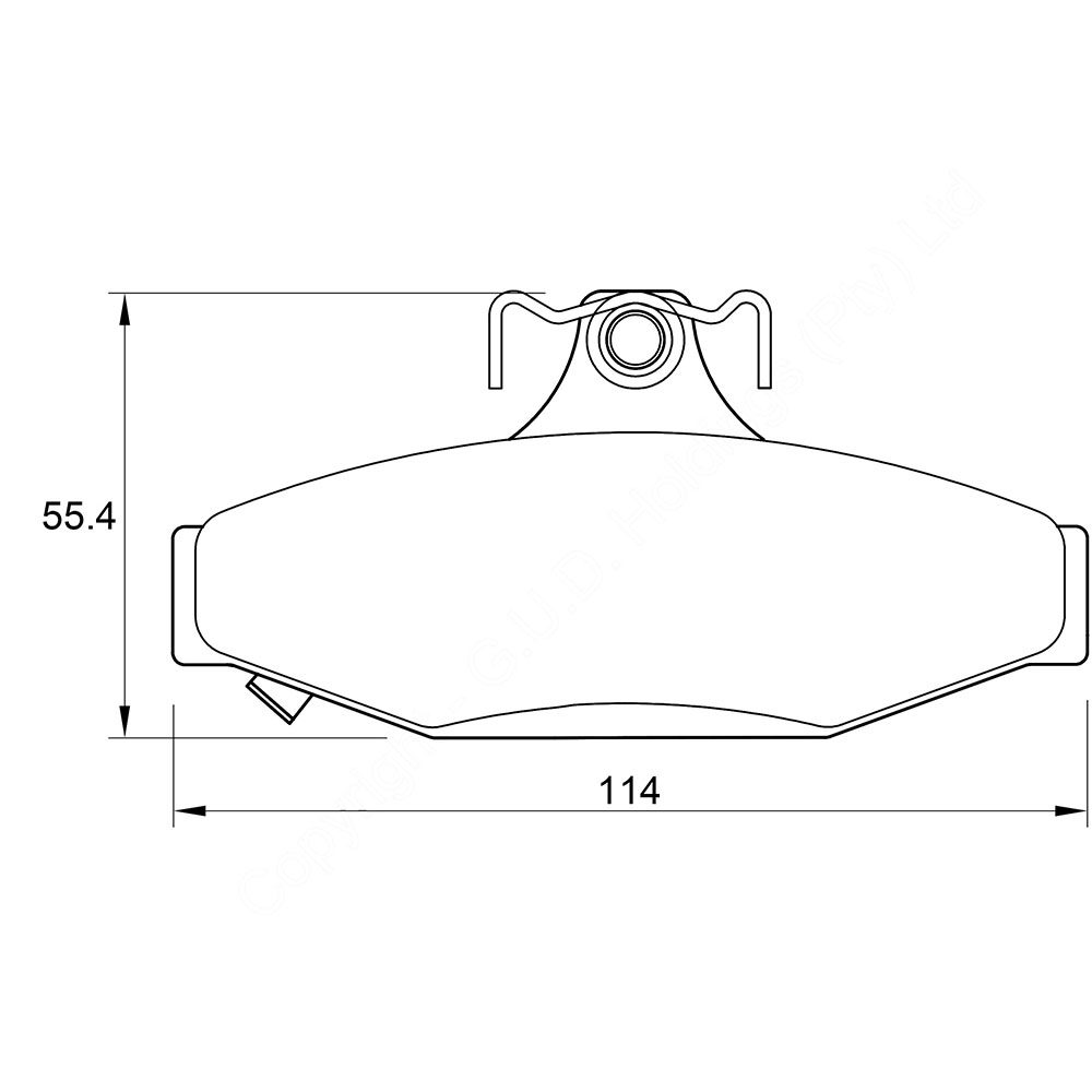 KBC Brake Pads (front) for Ford Fairmount,Ford Falcon,Ford Ranhero,Ssangyong Karando,Ssangyong Musso 1