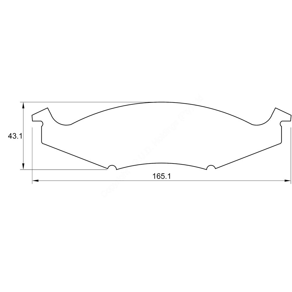 KBC Brake Pads (front) for Chrysler Neon 1