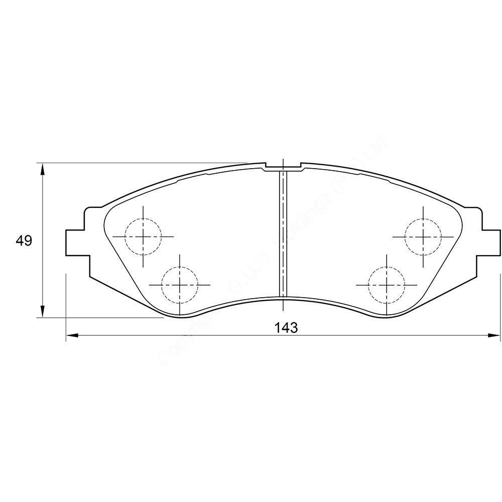 KBC Brake Pads (Front) for Chevrolet, Daewoo 1