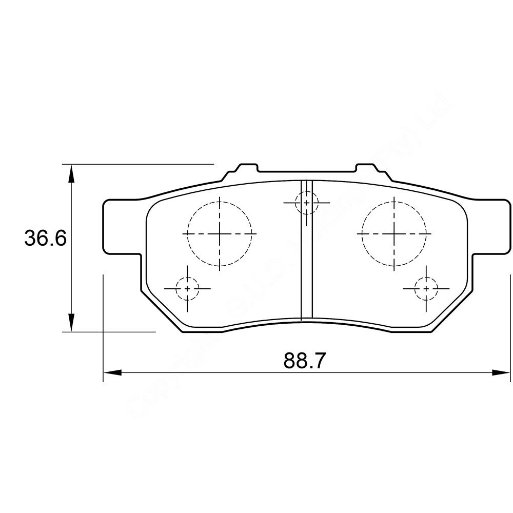 KBC Brake Pads (front) for Honda Ballade,Honda Civic 1