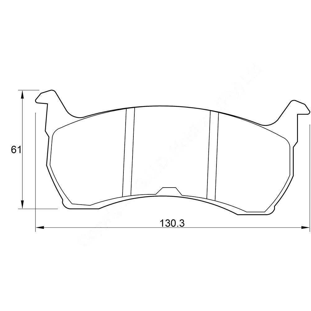 KBC Brake Pads (front) for Ford Fairmoun,Ford Falcon,Ford Ranhero 1