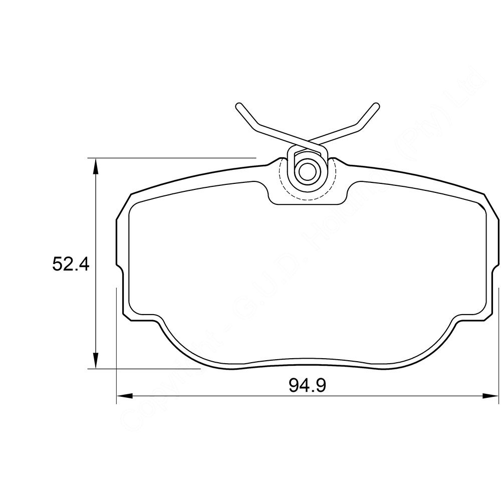 KBC Brake Pads (front) for Landrover Discovery,Range Rover 1
