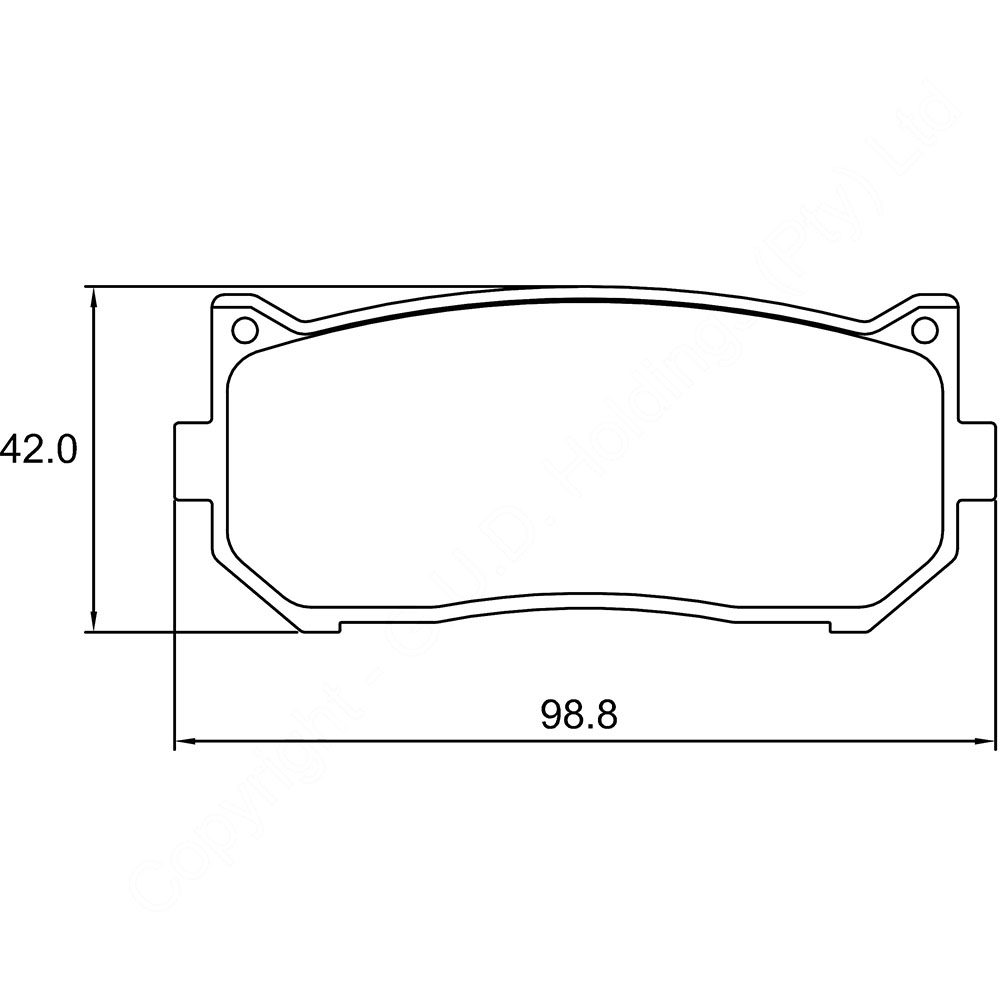 KBC Brake Pads (front) for Kia Clarus 1