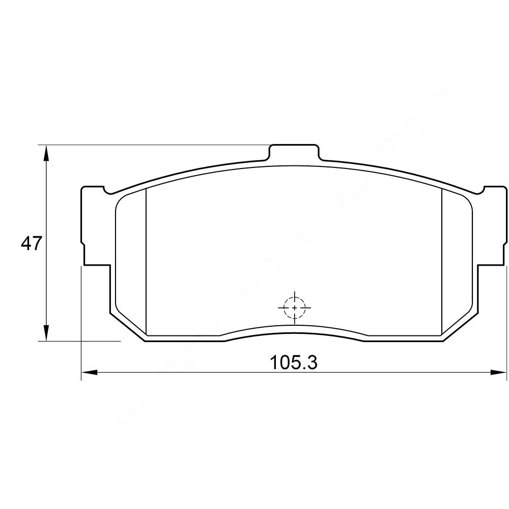 KBC Brake Pads (front) for Nissan Maxima 1