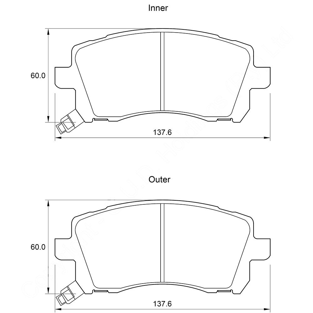 KBC Brake Pads (front) for Subaru Forester,Subura Legacy 1