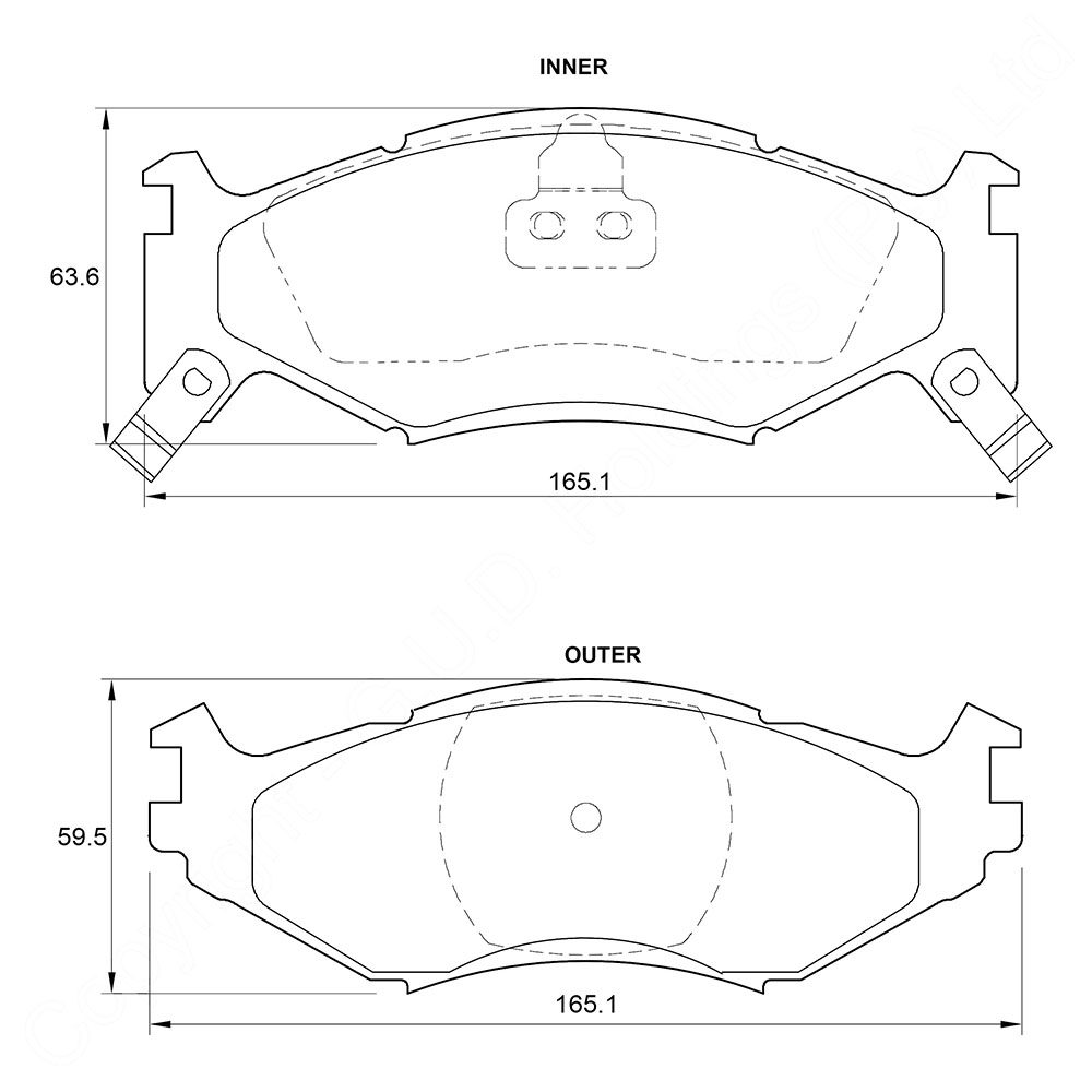 KBC Brake Pads (front) for Chrysler Voyager/ Grand Voyager 1