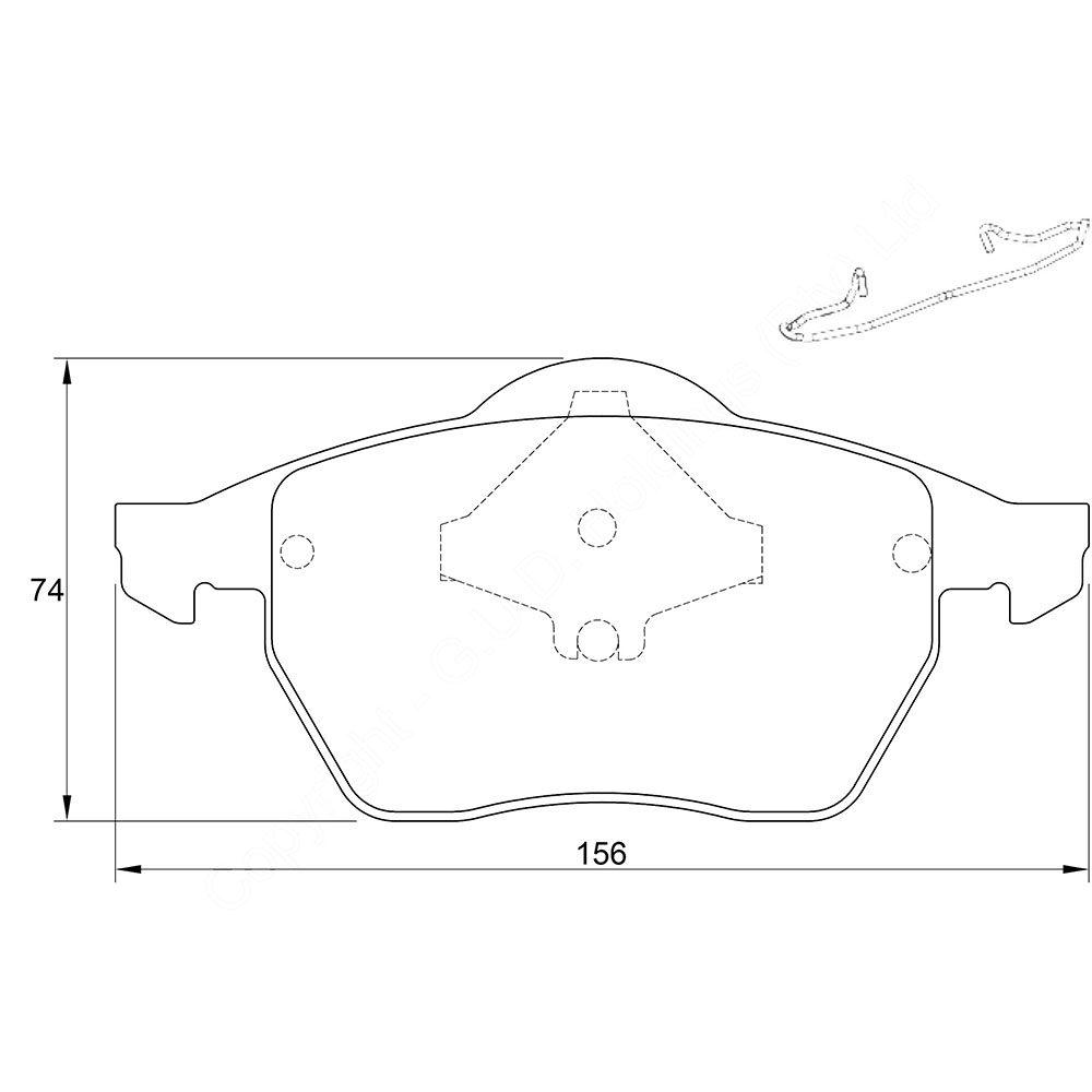 KBC Brake Pads (front) for Volkswagen Golf,Volkswagen Sharan 1