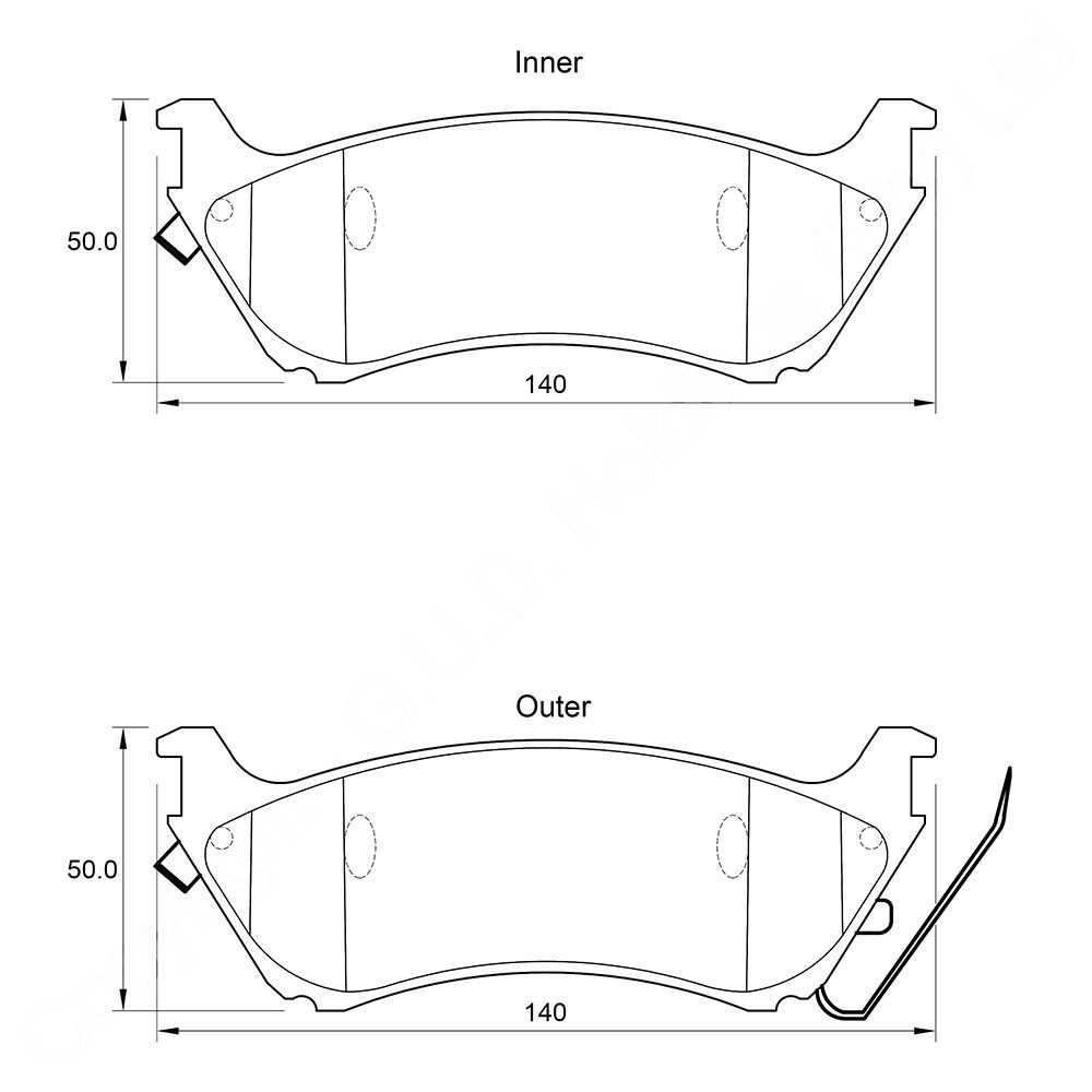 KBC Brake Pads (front) for ML 1