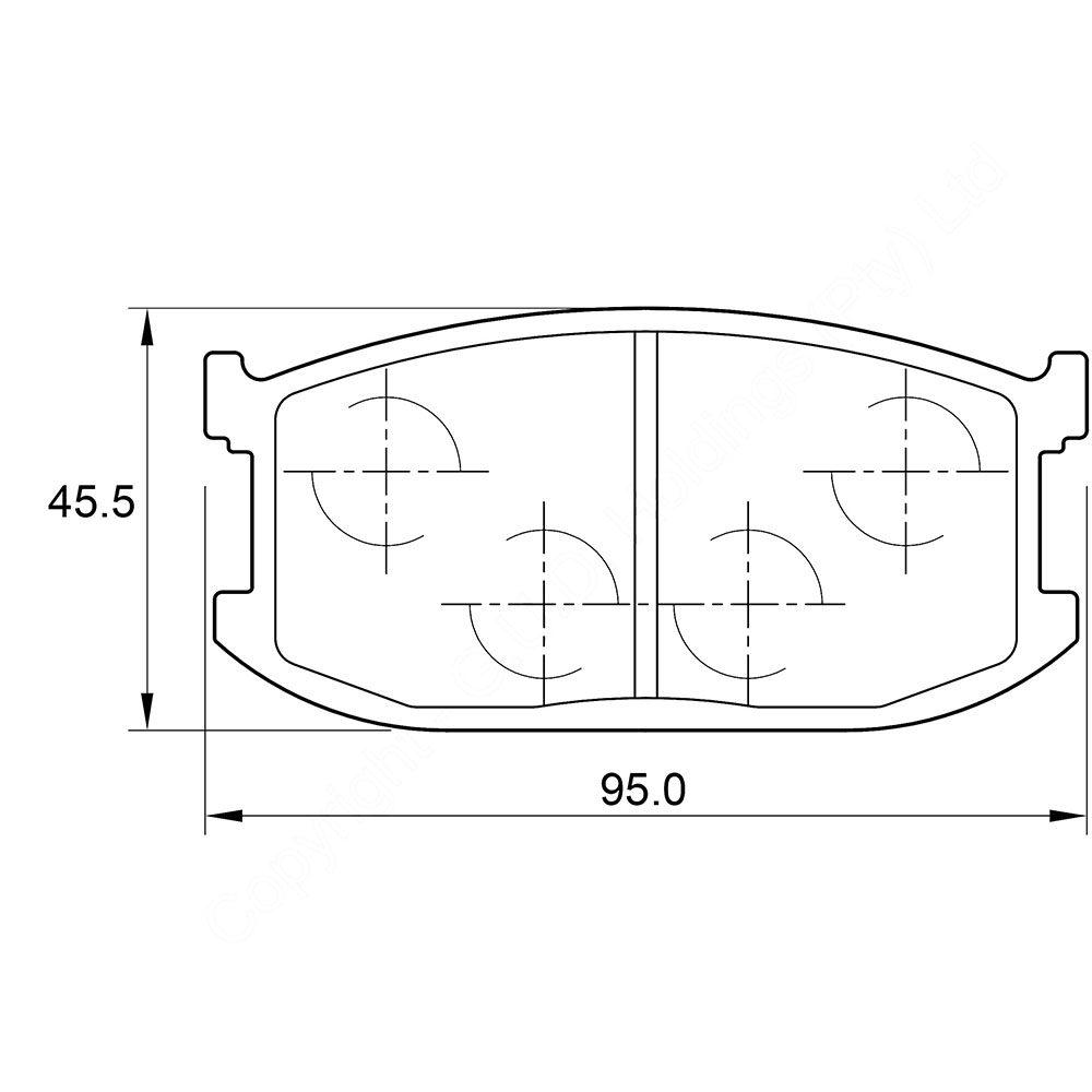 KBC Brake Pads (front) for Ford Laser 1