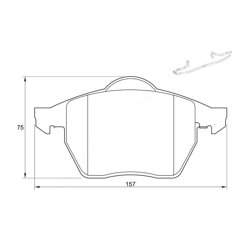 KBC Brake Pads (front) for Volkswagen Golf,Volkswagen Jetta 1