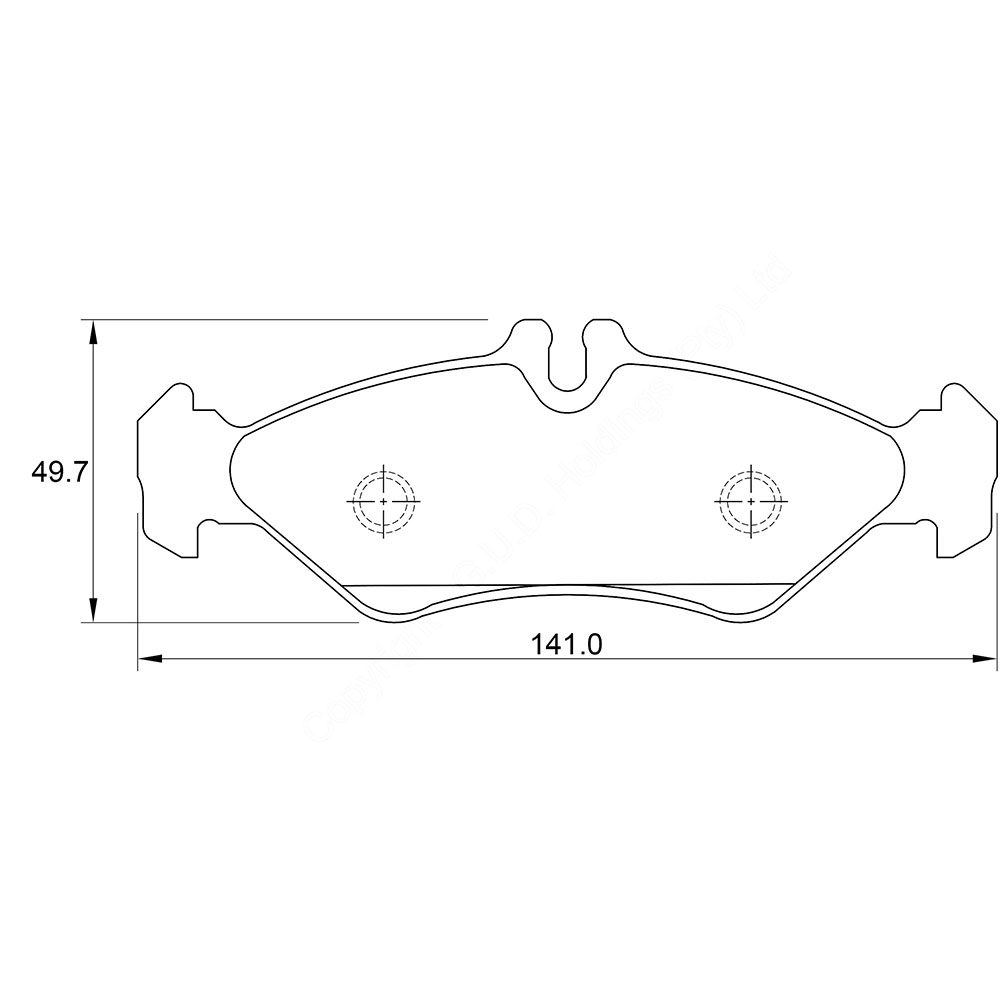 KBC Brake Pads (front) for Mercedes Benz 1