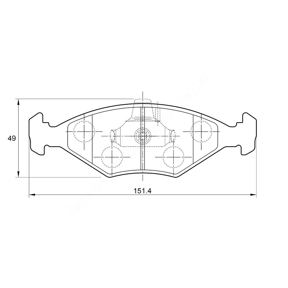 KBC Brake Pads (front) for Fiat Palio 1