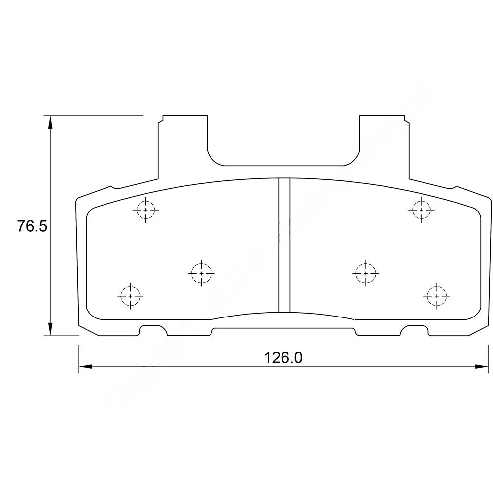 KBC Brake Pads (front) for Chevrolet AC Delco 1