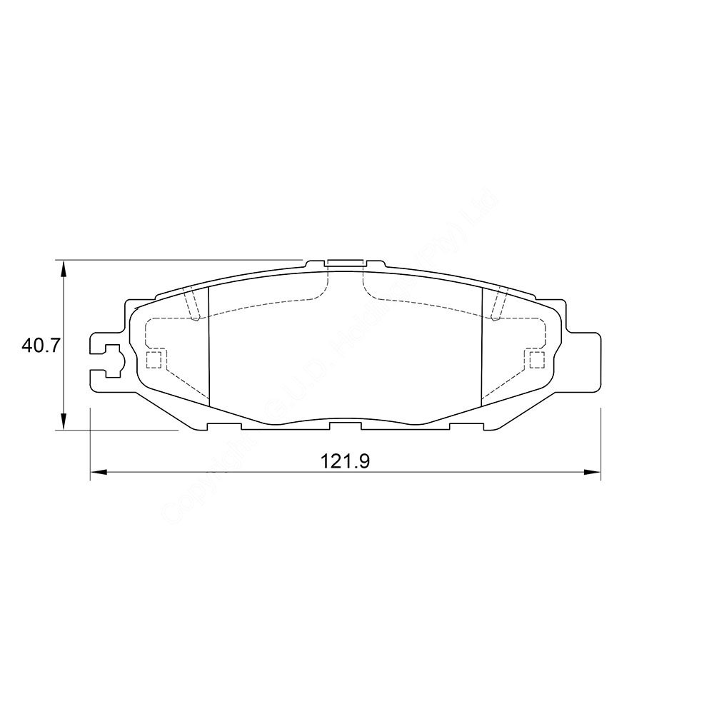 KBC Brake Pads (front) for Lexus 1