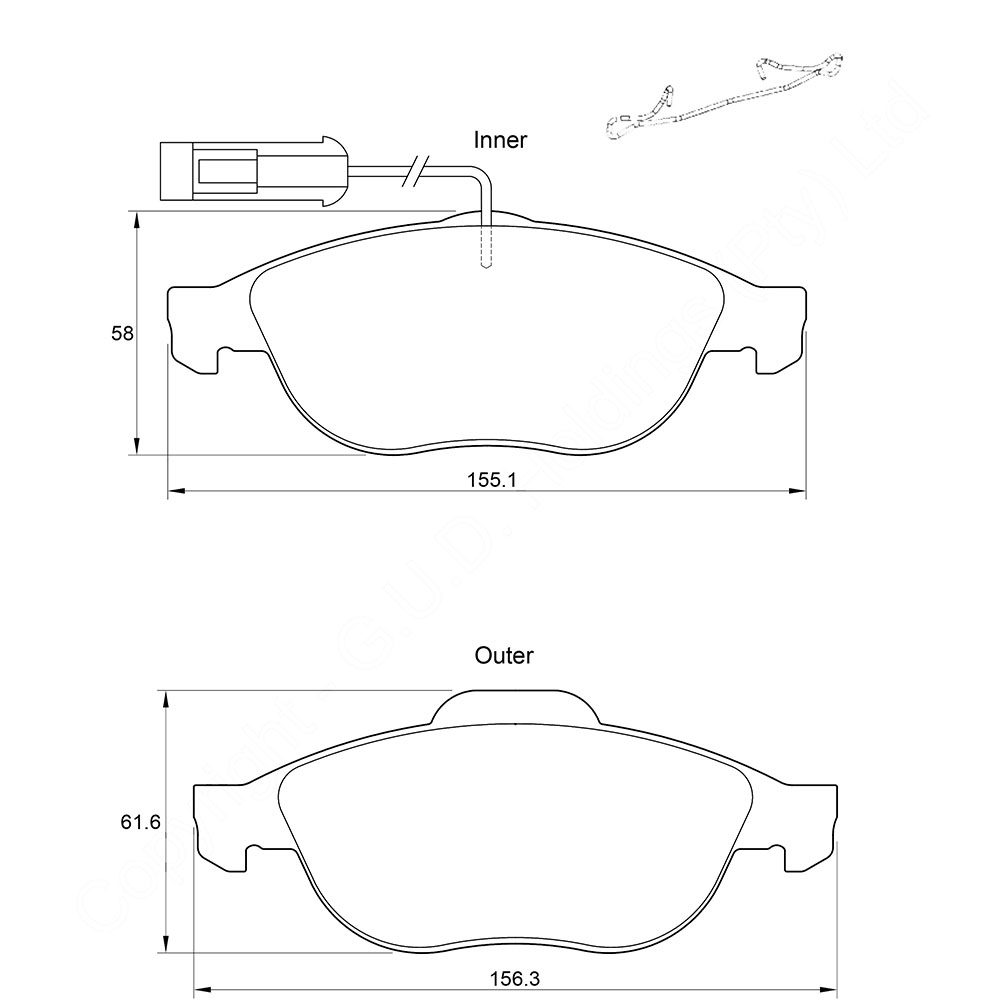 KBC Brake Pads (front) for Alfa 1