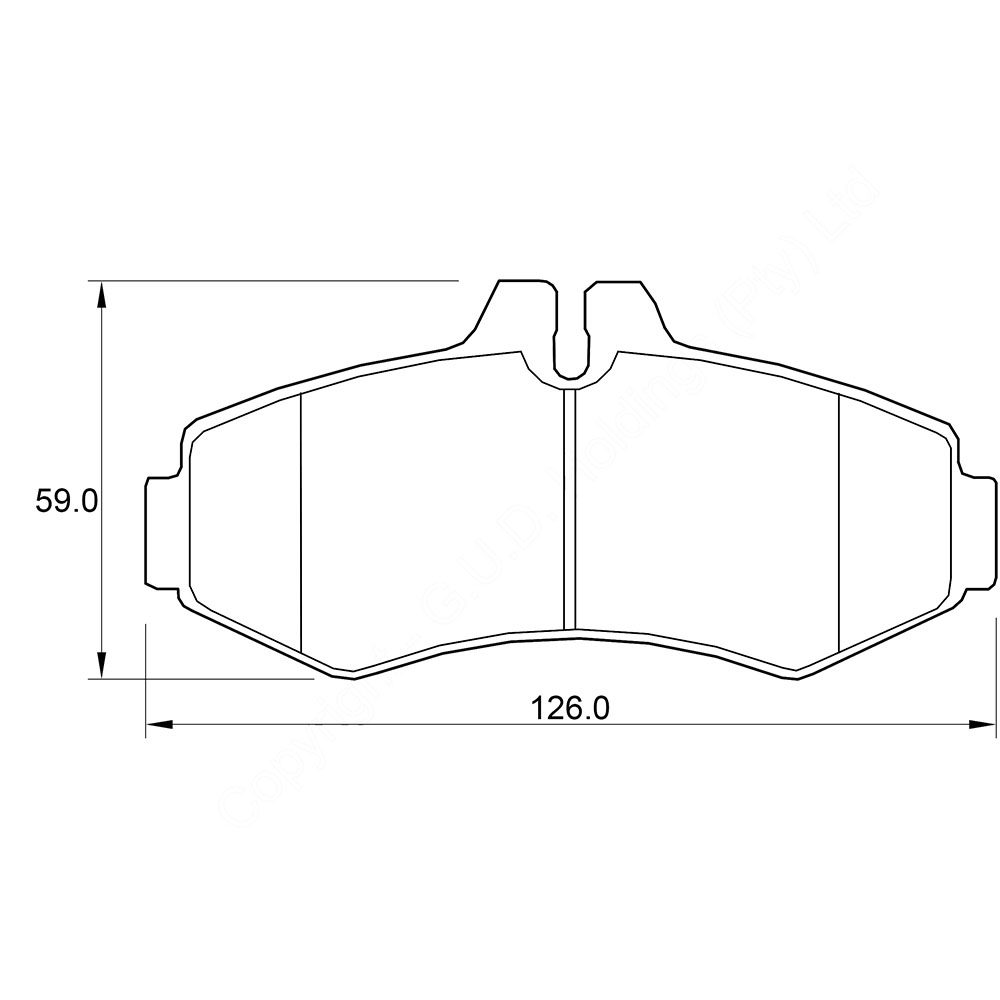 KBC Brake Pads (front) for Merc Vito 1