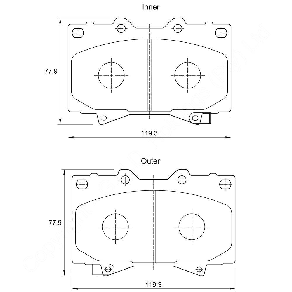 KBC Brake Pads (front) for Toyota Landcruiser 1