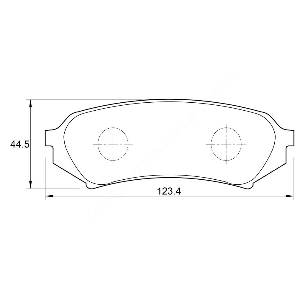 KBC Brake Pads (front) for Toyota Landcruiser 1