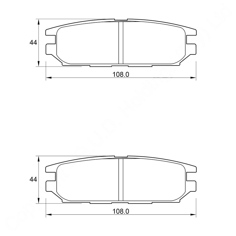 KBC Brake Pads (front) for Mitsubishi Space Gear 1